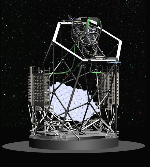 An artist's concept of the telescope after the upgrades.
