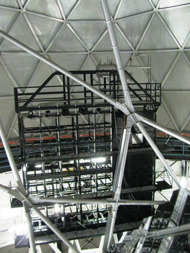 The racks that will hold the VIRUS units in place on the Hobby-Eberly Telescope